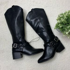 Brand New Forever 21 Black Cowboy Style Boots